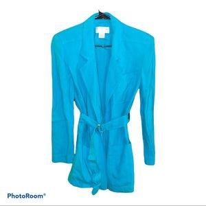 Christian Dior Belted Long Line Blazer Jacket Vtg
